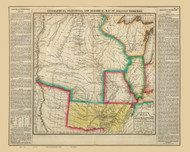 Arkansas 1822 Carey - Old State Map Reprint