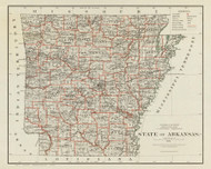 Arkansas 1878 GLO - Old State Map Reprint