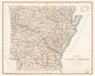 Arkansas 1886 GLO - Old State Map Reprint