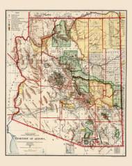 Arizona 1906 GLO - Old State Map Reprint