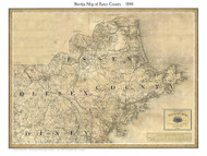 Essex County Massachusetts 1844 - Old Map Custom Print - Borden MA Counties Other