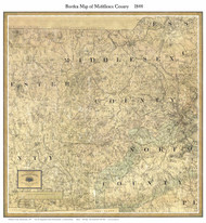 Middlesex County Massachusetts 1844 - Old Map Custom Print - Borden MA Counties Other