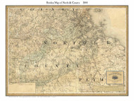 Norfolk County Massachusetts 1844 - Old Map Custom Print - Borden MA Counties Other