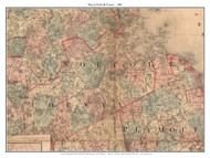 Norfolk County Massachusetts 1861 Old Map Custom Print - H.F. Walling MA Counties Other