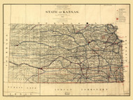 Kansas 1884 GLO - Old State Map Reprint