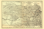 Kansas 1886 Colton - Old State Map Reprint