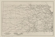 Kansas 1924 Rand - Old State Map Reprint