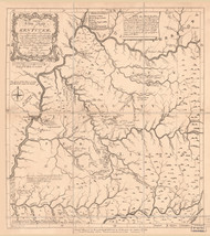 Kentucky 1784 (1884) Filson - Old State Map Reprint