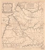 Kentucky 1784 (1884) Filson - Old State Map Reprint