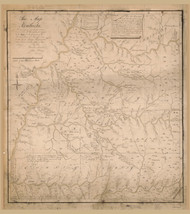 Kentucky 1784 Filson MS - Old State Map Reprint