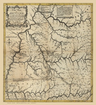Kentucky 1784 A Filson - Old State Map Reprint