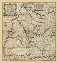 Kentucky 1784 A Filson - Old State Map Reprint