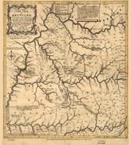 Kentucky 1784 B Filson - Old State Map Reprint