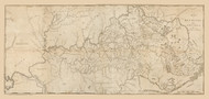 Kentucky 1793 Barker - Old State Map Reprint