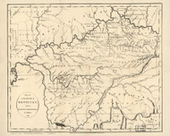 Kentucky 1794 Russell - Old State Map Reprint