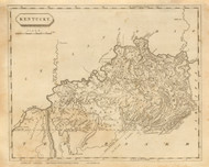 Kentucky 1812 Arrowsmith - Old State Map Reprint
