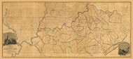 Kentucky 1818 B Munsell - Old State Map Reprint