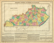 Kentucky 1822 Carey - Old State Map Reprint