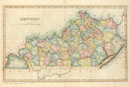 Kentucky 1822 Lucas - Old State Map Reprint