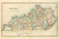 Kentucky 1822 Lucas - Old State Map Reprint