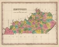 Kentucky 1824 Finley - Old State Map Reprint