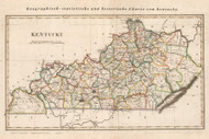 Kentucky 1829 Weiland German (Map Only) - Old State Map Reprint