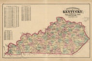 Kentucky 1876 McDonough - Old State Map Reprint