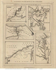 1812-14 Prinicipal Seats of the War of 1812 - 1829 Emma Willard - USA Atlases