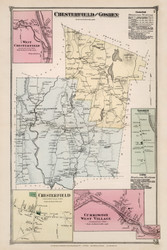 Chesterfield and Goshen, Massachusetts 1873 Old Town Map Reprint - Hampshire Co.