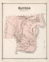 Hatfield, Massachusetts 1873 Old Town Map Reprint - Hampshire Co.