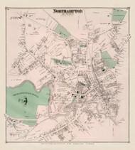 Northampton Village North, Massachusetts 1873 Old Town Map Reprint - Hampshire Co.