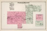 Pelham and Prescott, Massachusetts 1873 Old Town Map Reprint - Hampshire Co.