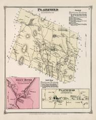 Plainfield, Massachusetts 1873 Old Town Map Reprint - Hampshire Co.