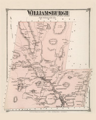 Williamsburgh, Massachusetts 1873 Old Town Map Reprint - Hampshire Co.