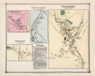 Williamsburgh, Skinnerville, South Worthington and Ringville Villages, Massachusetts 1873 Old Town Map Reprint - Hampshire Co.