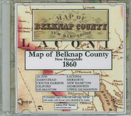 Map of Belknap County, New Hampshire, 1860, CDROM Old Map