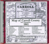 Topographical Map of Carroll County, New Hampshire, 1861, CDROM Old Map