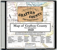 Topographical Map of Grafton County, New Hampshire, 1860, CDROM Old Map