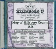 Map of Hillsboro County, New Hampshire, 1858, CDROM Old Map