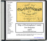 Map of Rockingham County, New Hampshire, 1857, CDROM Old Map