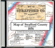 Map of Strafford County, New Hampshire, 1856, CDROM Old Map