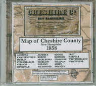 Map of Cheshire County, New Hampshire, 1858, CDROM Old Map