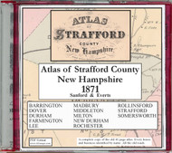 Atlas of Strafford County, New Hampshire, 1871, CDROM Old Map