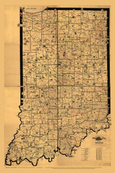 Indiana 1897 Galbraith - Old State Map Reprint