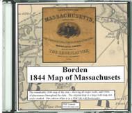 Borden Map of Massachusetts, 1844, CDROM Old Map