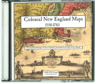 Colonial New England Maps, 1550-1783, CDROM Old Map
