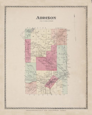 Addison, New York 1873 - Old Town Map Reprint - Steuben Co. Atlas