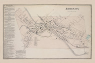 Addison Addison Village, New York 1873 - Old Town Map Reprint - Steuben Co. Atlas