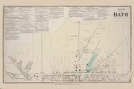 Bath North Bath, New York 1873 - Old Town Map Reprint - Steuben Co. Atlas