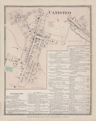Canisteo Canisto Village, New York 1873 - Old Town Map Reprint - Steuben Co. Atlas